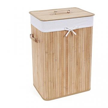songmics 72 l bambus faltbar w schekorb schatztruhe kaufen online bestseller von topmarken. Black Bedroom Furniture Sets. Home Design Ideas